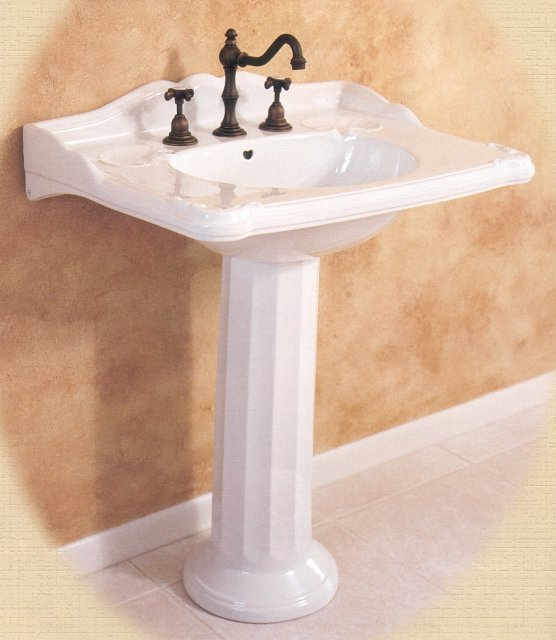 Bathroom Sink Mirror : Bathrooms With Pedestal Sinks Interior Decorating